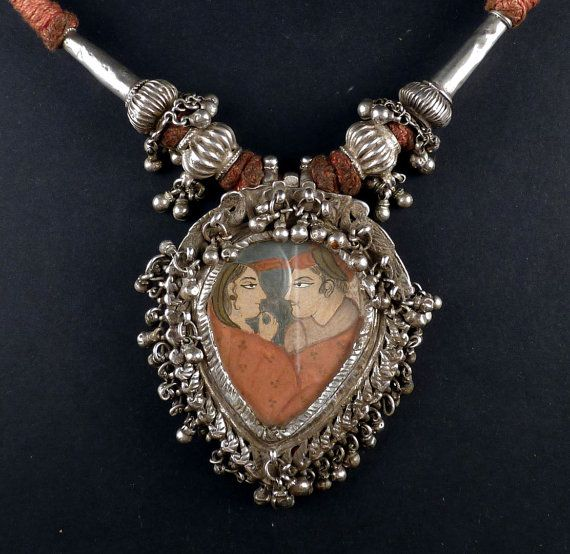 Indian Silver Amulet from Rajasthan