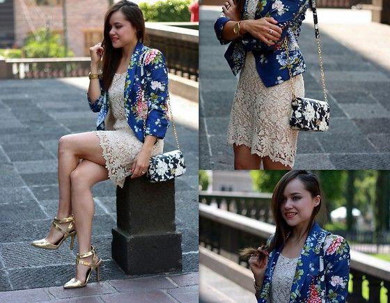 Sheinside Blazer!, Tory Burch Bag, Zara Dress, Windsore Store Heels, Michael Kors Watch