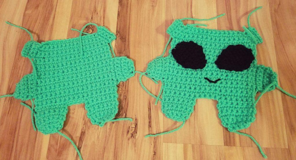 Free Crochet Pattern: Alien Lovey | Crochet lovey, Free crochet and ...