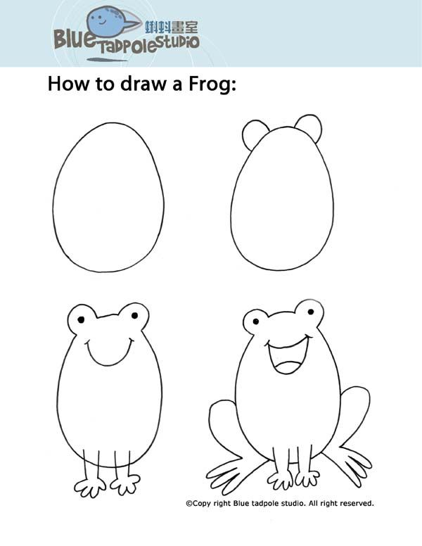 Blue Tadpole Studio Step By Step Instructions For Drawing For