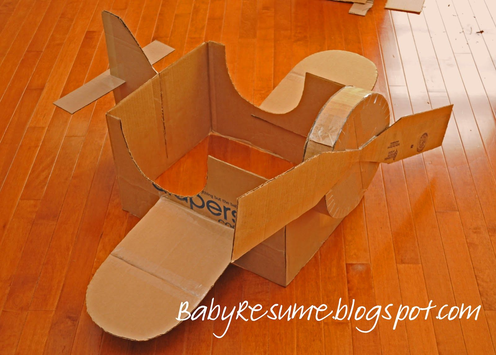 How To Make A Big Cardboard Airplane Heres My Version Of The - Box paper airplane