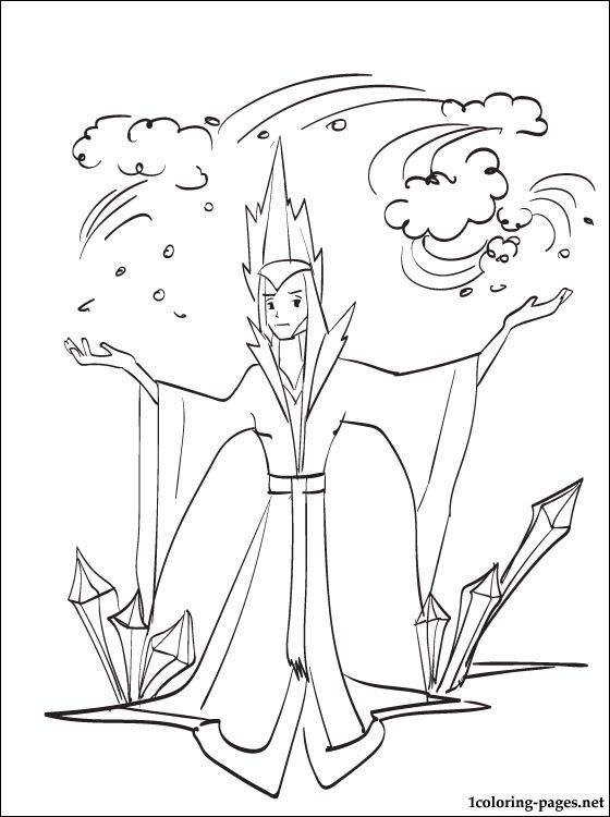 Snow Queen Coloring Page Coloring Pages Snow Queen Color