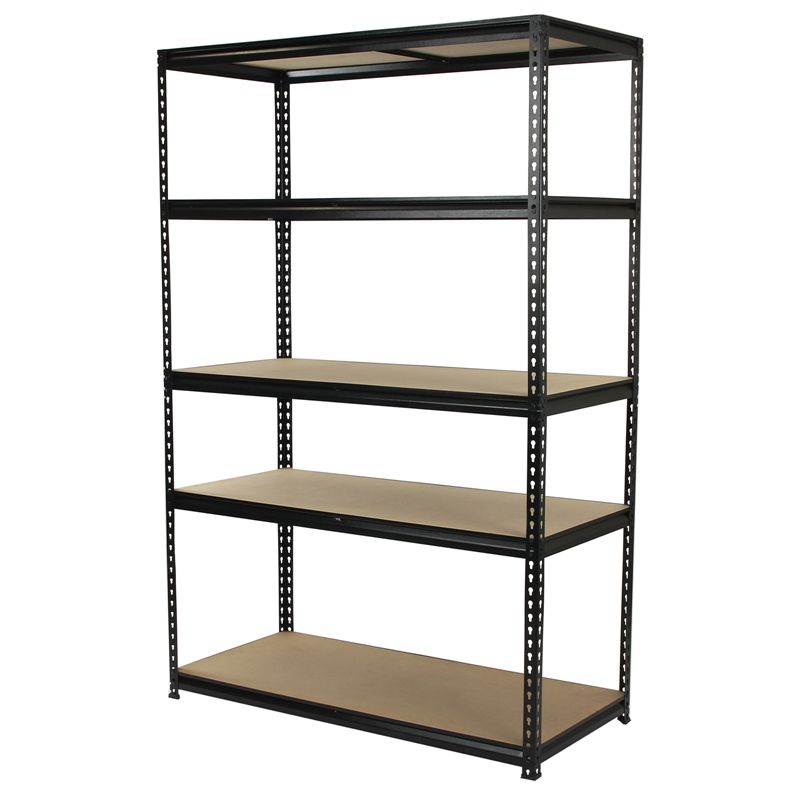 Qiq Fix 5 Shelf Black Storage Unit I N 2581012 Bunnings Warehouse