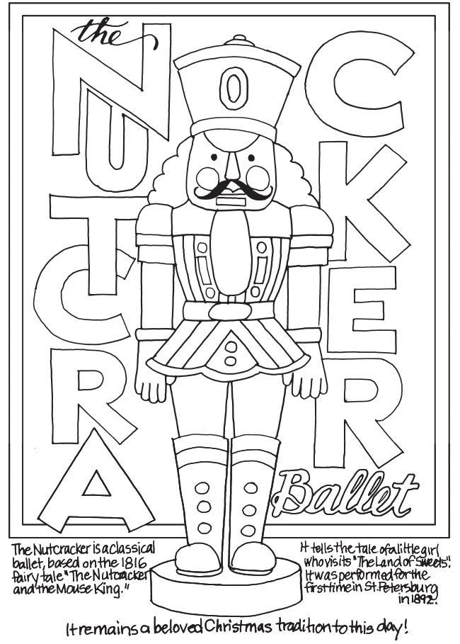 Freebie: Nutcracker Coloring Page | Pinterest | Embroidery ...