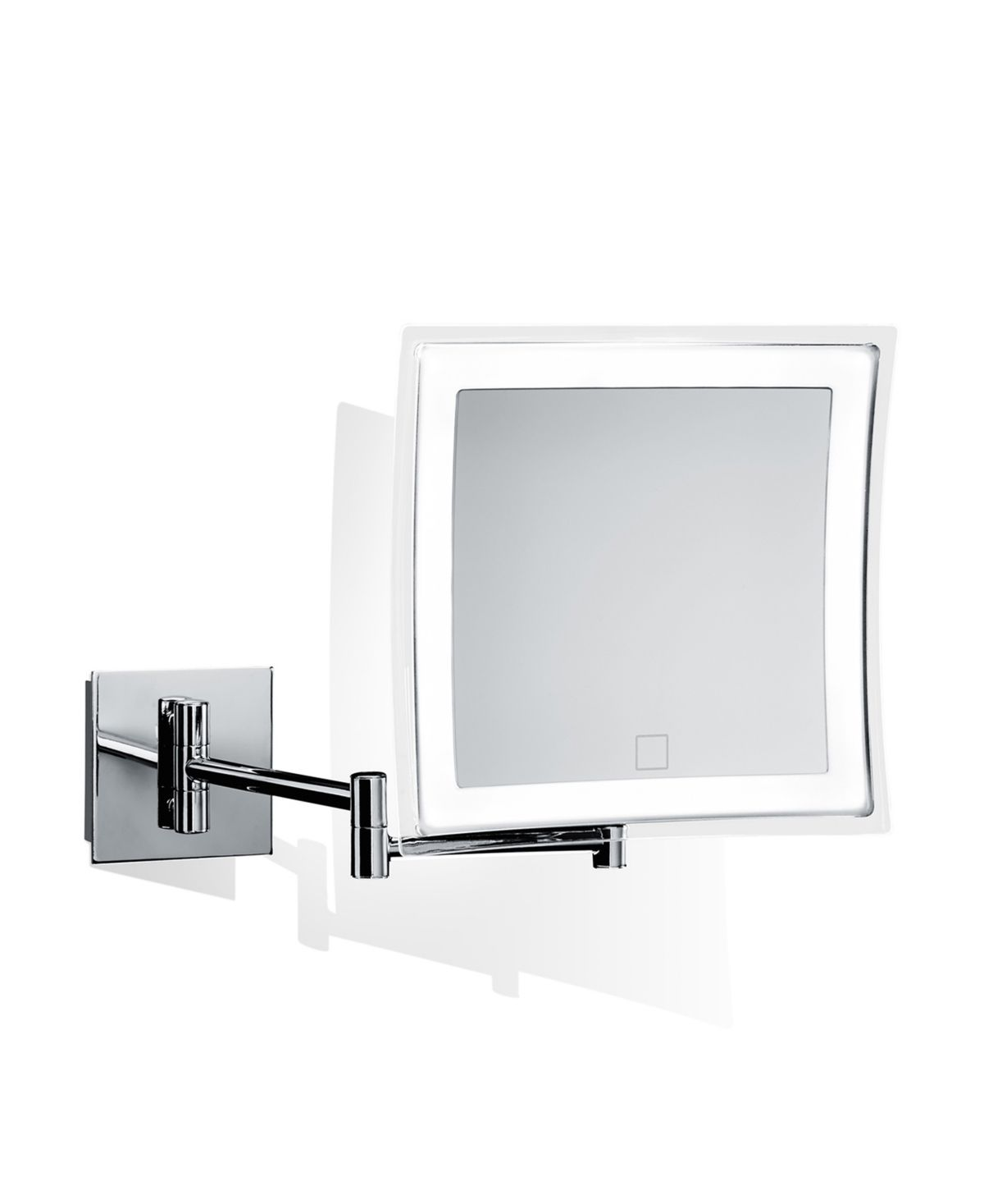 Ws Bath Collections Wall Mounted Lighted Magnifying Mirror