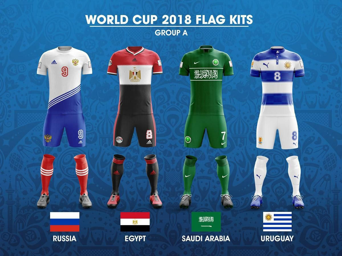 2018 Fifa World Cup Russia Group A Concept Of Forms Based On National Flags Kit Worldcup2018 Worldcup Wc2018 W World Cup World Football Neymar Football