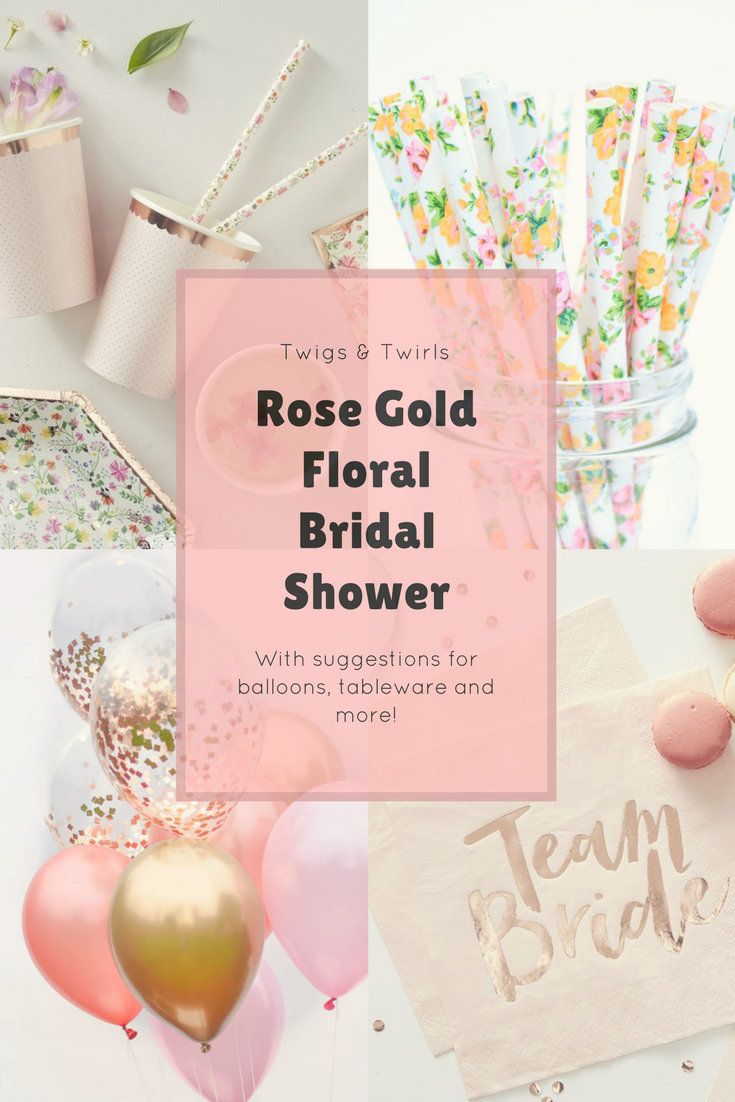 The Best Rose Gold Party Decorations | Rose gold party decorations ...
