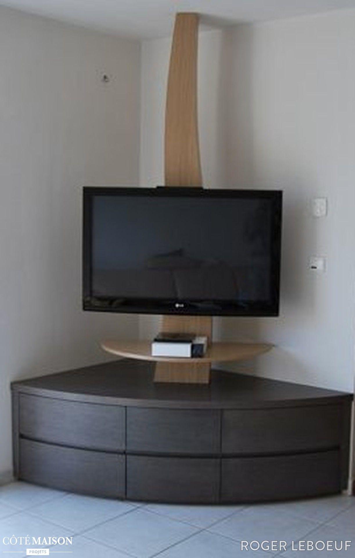 coin meuble tv angle meuble tele angle