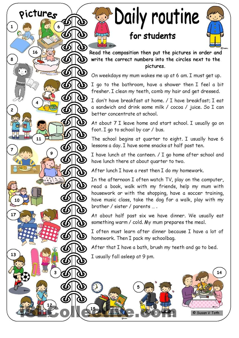 Daily routine in German   Beginner German Lessons for Children     my daily routine spanish essay