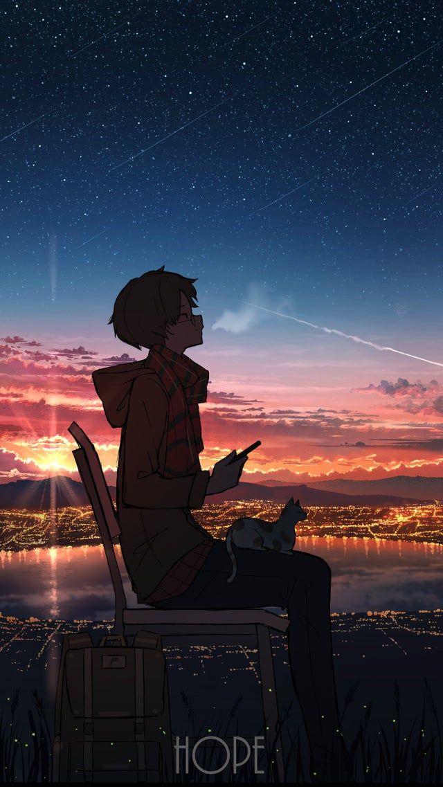 Hope Original Moescape Lukisan Jepang Seni Gelap Latar Belakang Animasi Anime wallpapers iphone xr