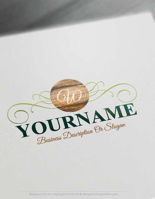Free Wood Logo Maker Online Wooden Logo Design Wood Logo