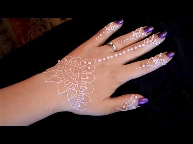 Natural Henna/White Henna/Glitter Gel Tutorial