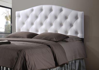 Baxton Studio Myra Modern and Contemporary Full Size White Faux ...