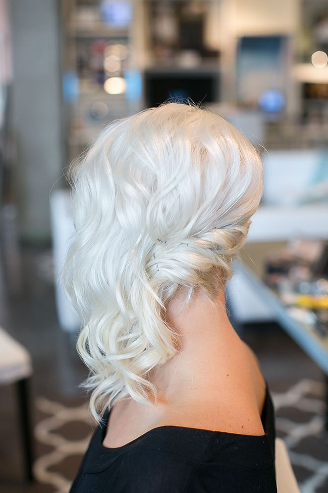 Holiday Glam Simple Sideswept Updo With Red Lips Hair Hair