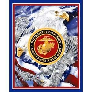 Marine Corps Fabric Panel | Marine Corp Eagle Fabric By The