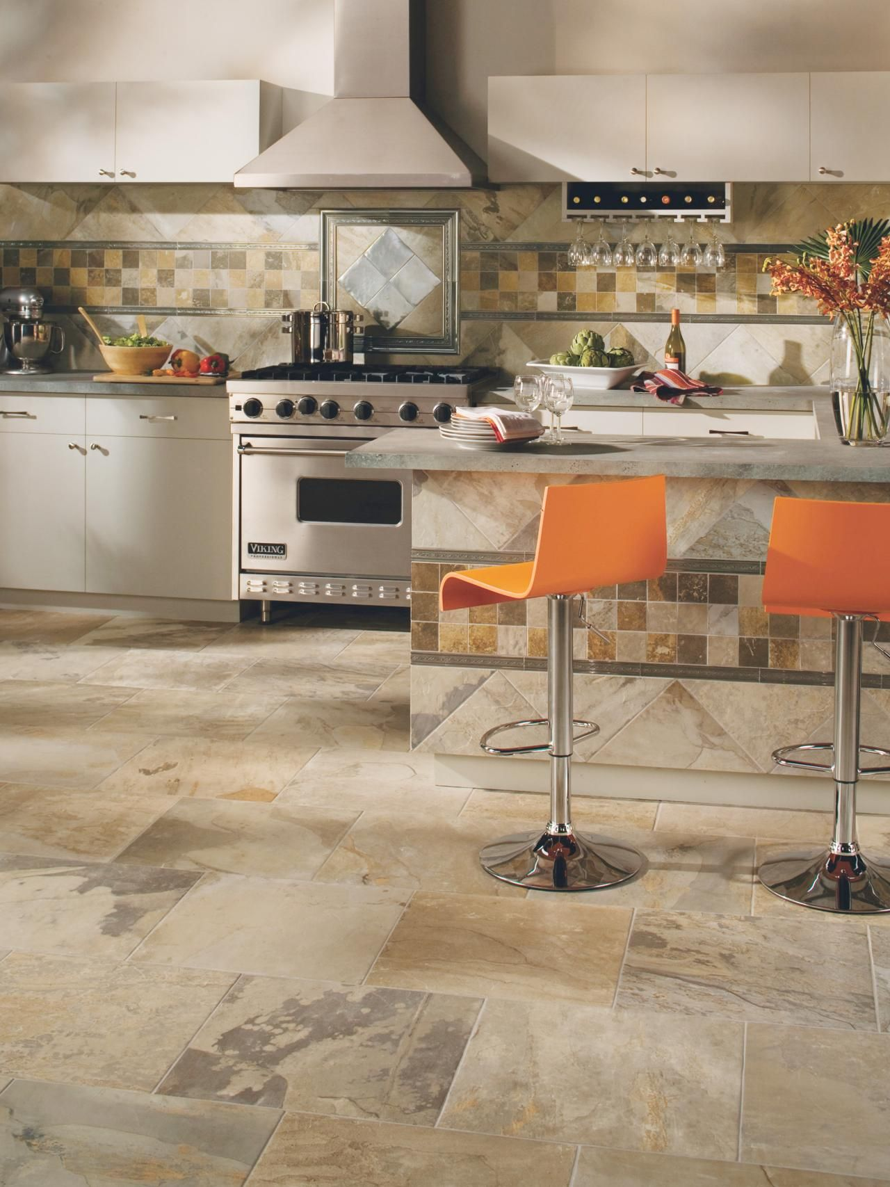 Tile Flooring In The Kitchen | Kitchen Designs   Choose Kitchen Layouts U0026  Remodeling Materials |