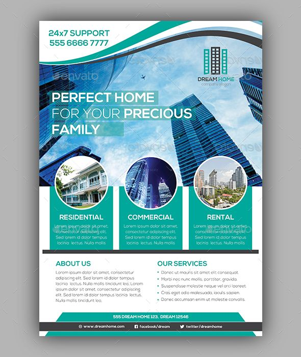 Real Estate Flyer Template PSD | Flyer Templates | Pinterest | Real ...