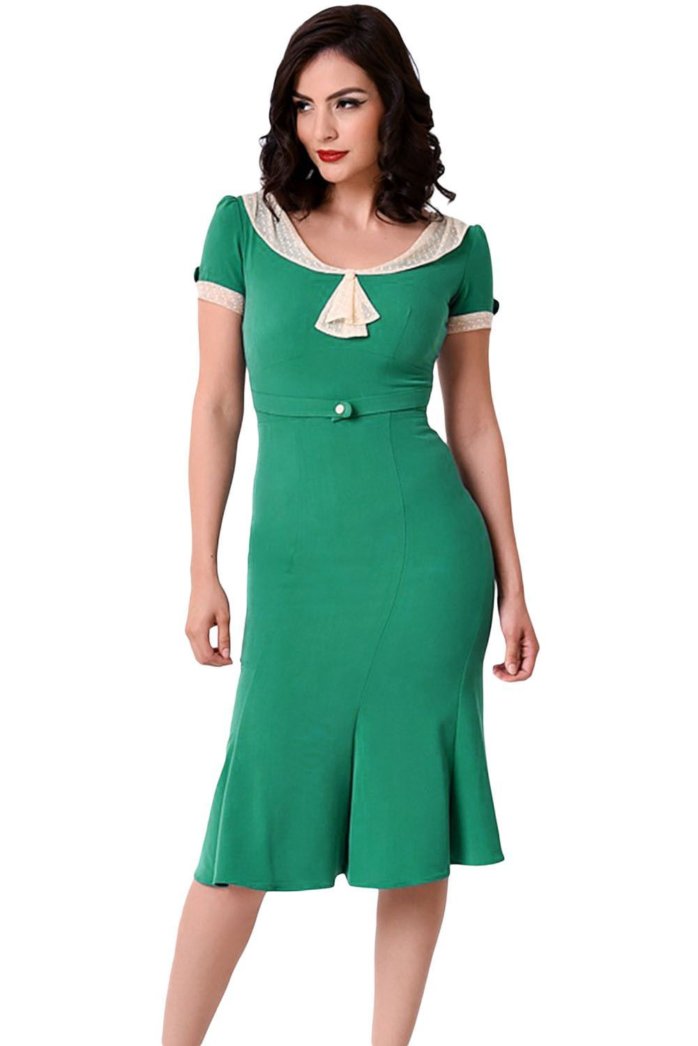 Stop Staring Green Ivory Vintage Party Dress | vintage Party, Ivory ...