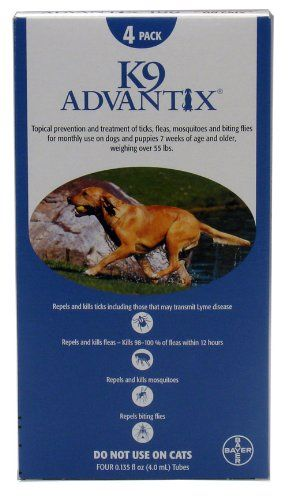 4 Month K 9 Advantix Blue For Dogs Over 55lbs Review Dog Flea Treatment Flea Treatment Flea Medicine For Cats