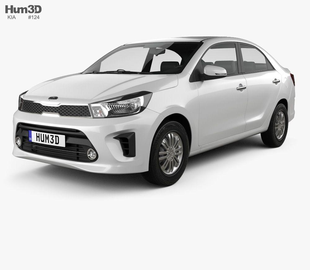 3d Model Of Kia Pegas 2018 Car 3d Model Kia Car