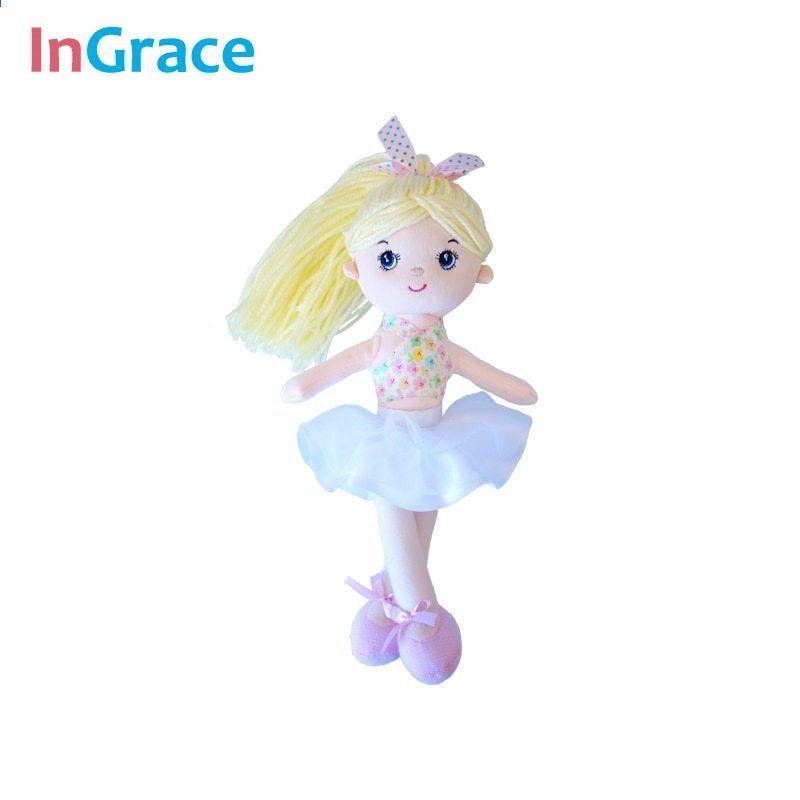 Mini Ballerina Dolls Girls Princess Soft Stuffed Toy Dancing Colorful Kids Gifts