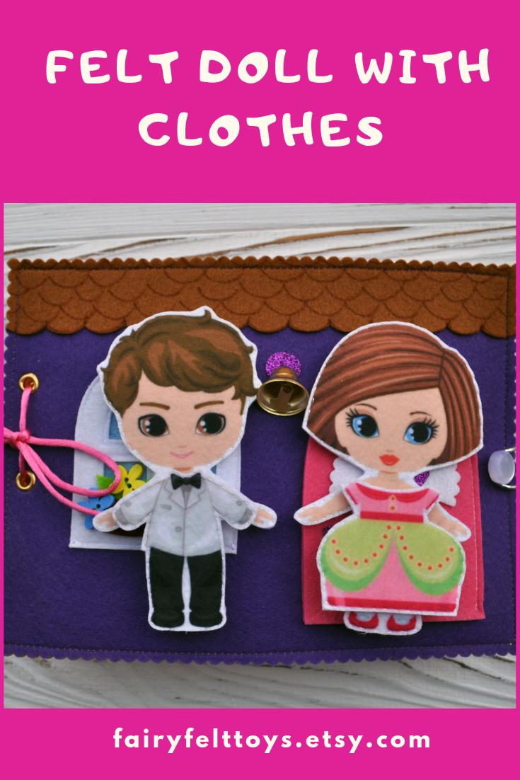 Felt quiet book for girls.  #bridedolls