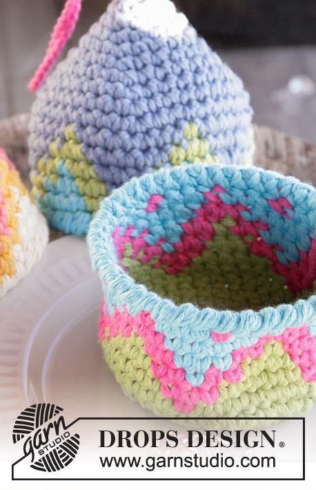 Pascua DROPS: Huevos de Pascua DROPS en ganchillo, con patrón de ...