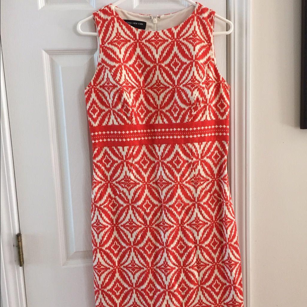 Orange and white jones new york dress products