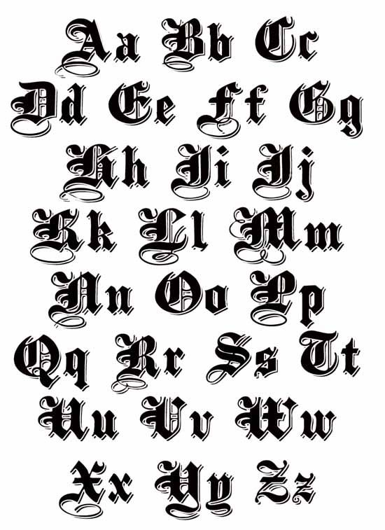 Pin by quinnzelle engelbrecht on q pinterest calligraphy fonts old english lettering tattoos high quality photos and flash designs of tattoo letters thecheapjerseys Image collections