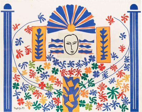 Célèbre Apollon - Henri Matisse, 1953 French,1869-1954 Gouache Découpe  AE18