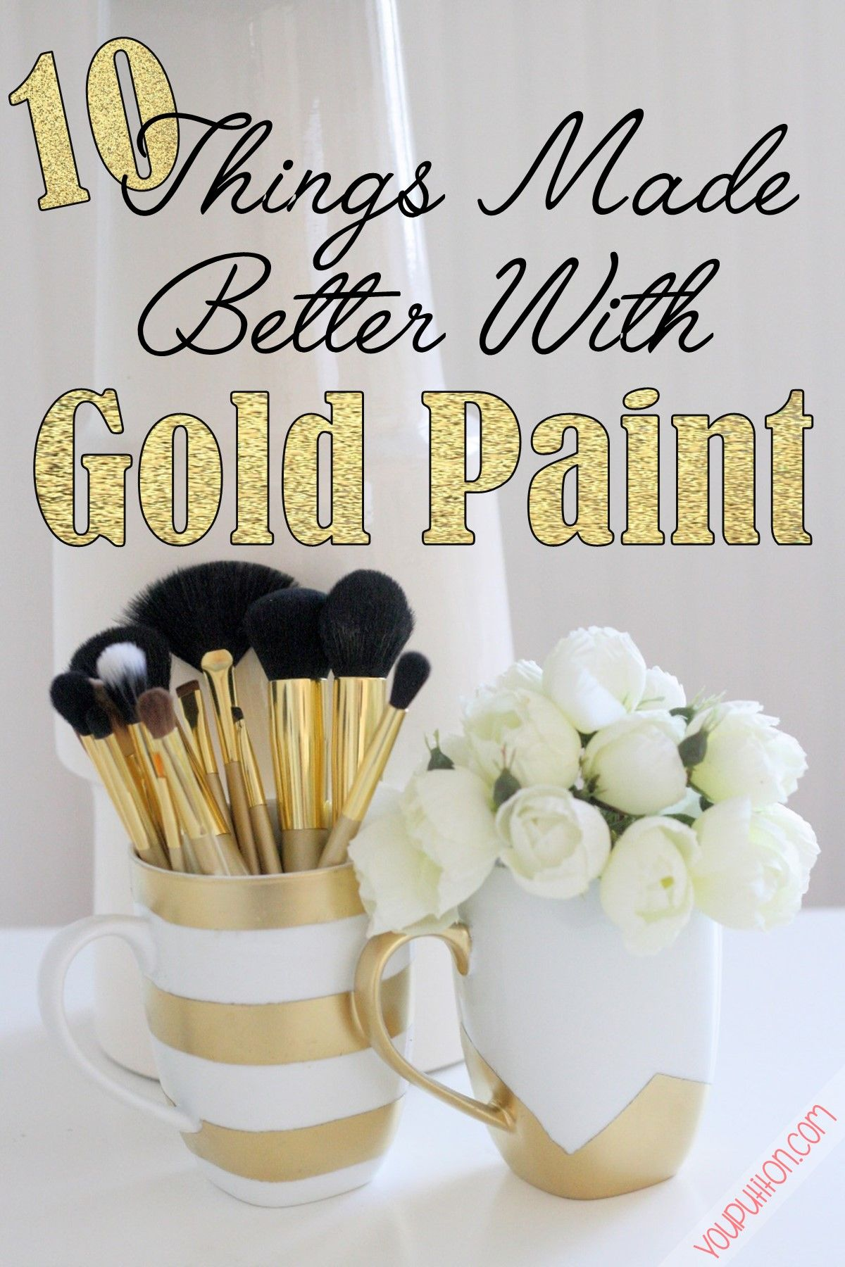 Things Made Better With Gold Spray Paint Craftiness - Best diy spray paint makeover ideas