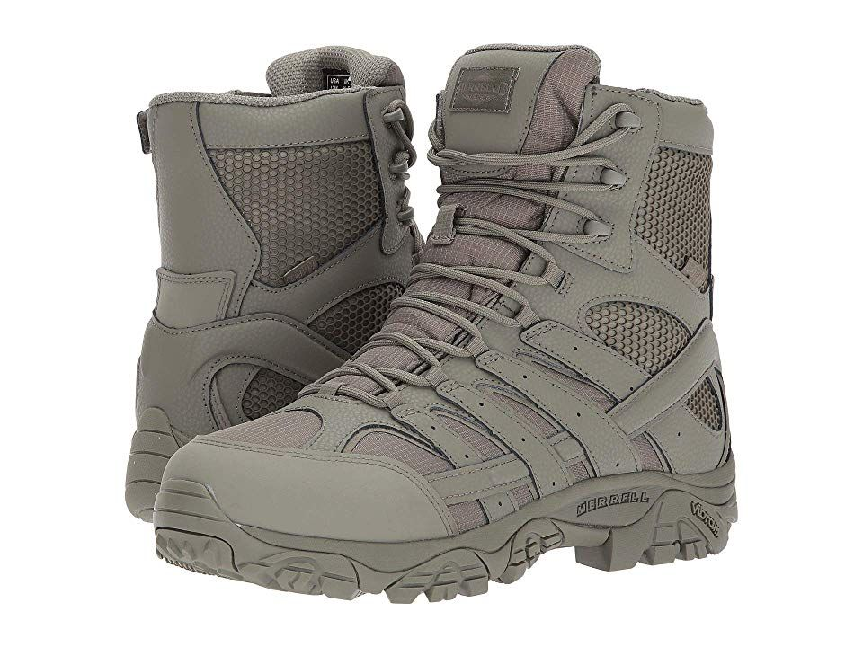 Merrell Work Moab 2 8 Tactical Waterproof Men S Industrial Shoes Sage Green Boots Women S Lace Up Boots Shoes