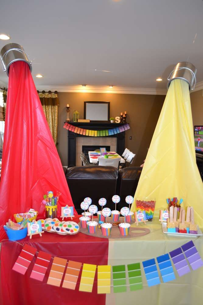 Creative Art Party Birthday Party Ideas With Images Painting