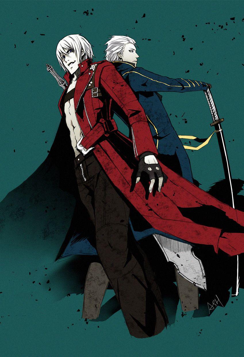 Dante & Vergil anime hotties Pinterest