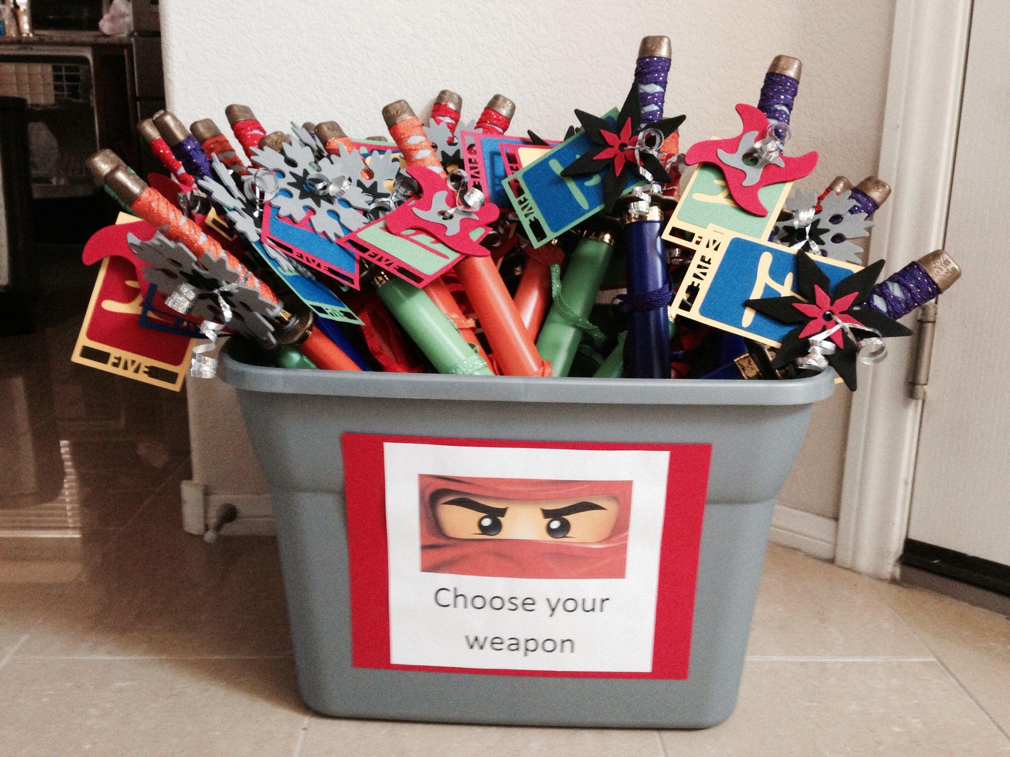 Amazon chima party supplies - Ninjago Birthday Party Favors Swords From Amazon Ninja Stars From Target
