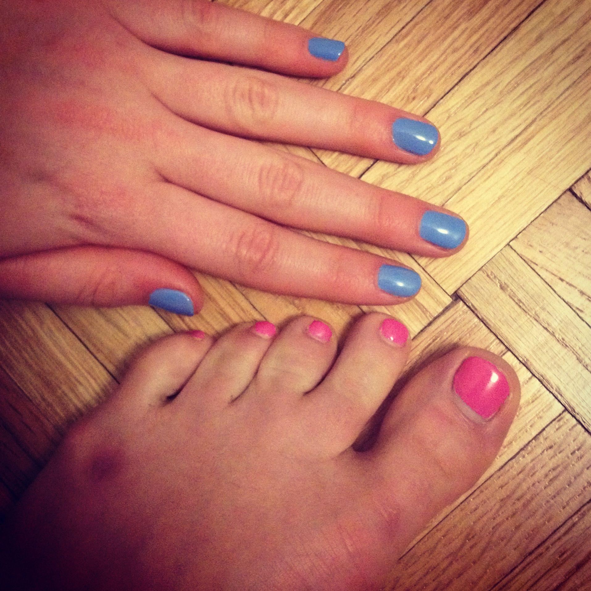 Robins egg blue nails