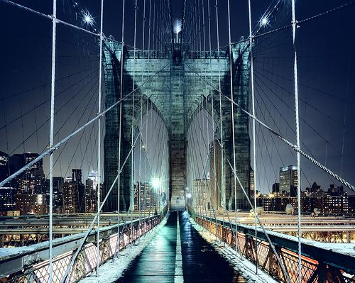 Brooklyn Bridge Walkway, New York CIty by Andrew Mace /// Have to get there....someday!