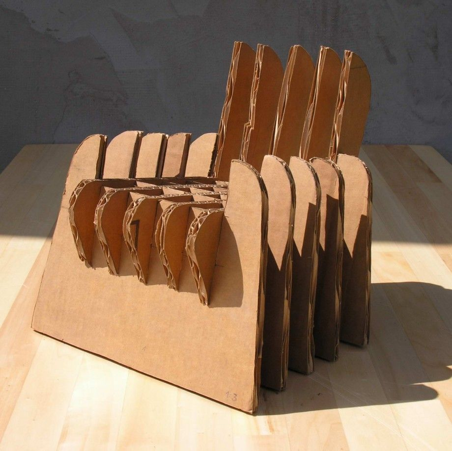 This Photo About Making Cardboard Chairs Without Glue Enled As Furniture