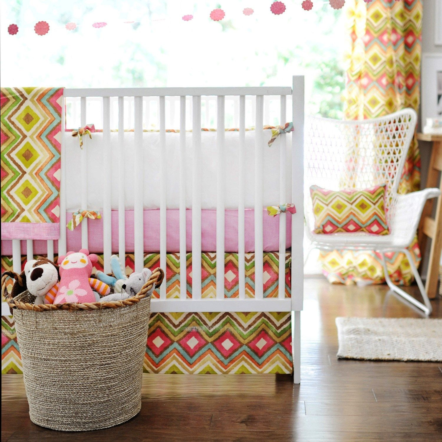 New Arrivals Crib Bedding Street Of Dreams Pink #Laylagrayce