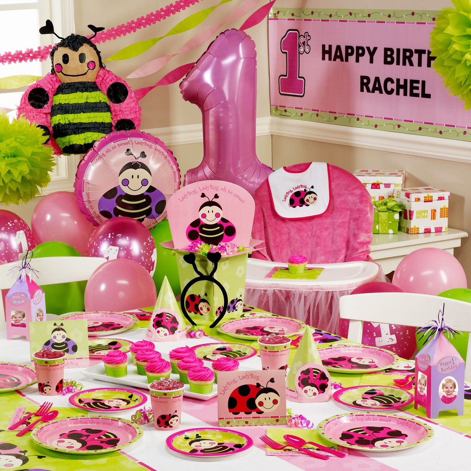 Ladybugs Oh So Sweet 1st Birthday Ultimate Party Pack Ladybug