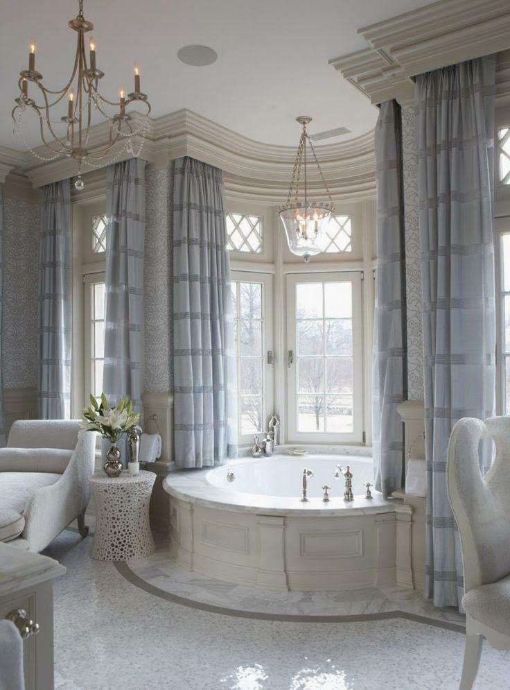 Luxury Bathroom With Beautiful Crown Molding Bathroom Design Luxury Modern Luxury Bathroom Dream Bathrooms