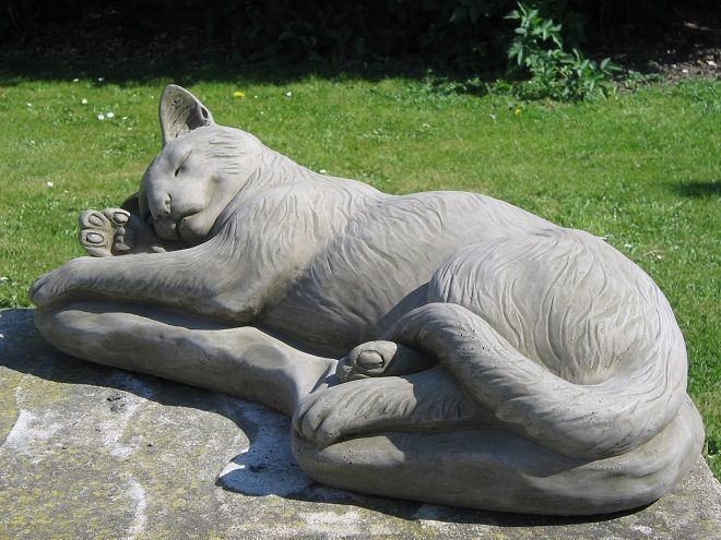 Our Most Por Cat Statue Is This Sleeping