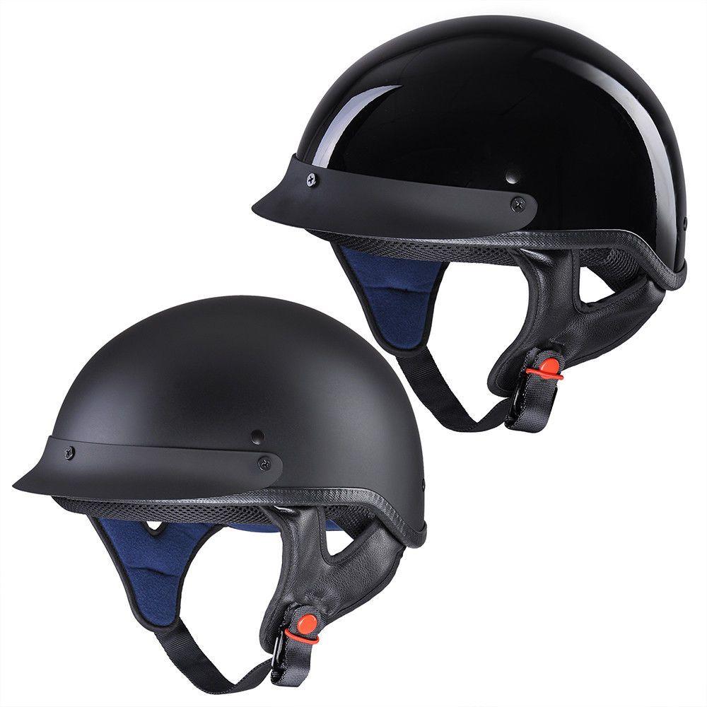 Motorcycle Half Helmet DOT Open Face Chopper Cruiser Bike