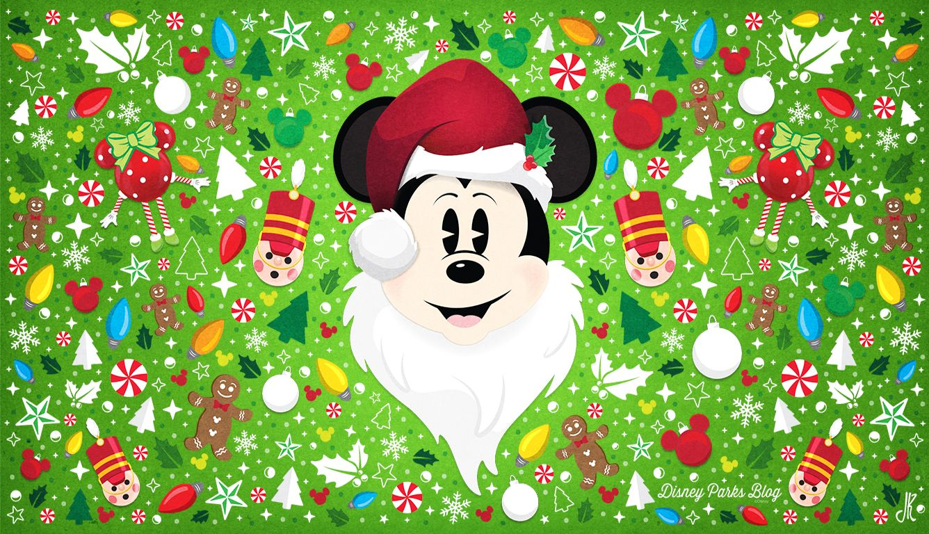 Santa Mickey Wallpaper Desktop Disney phone wallpaper