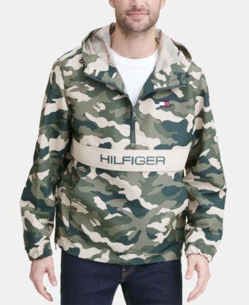 7dde0a80 Tommy Hilfiger Men's Taslan Popover Jacket, Created for Macy's - Green S