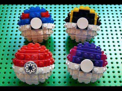 how to make a easy lego pokeball