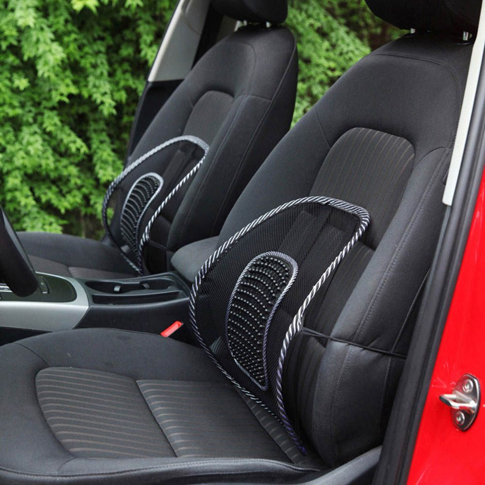 AUTO Car Back Seat Support Mesh Lumbar Back Brace Support