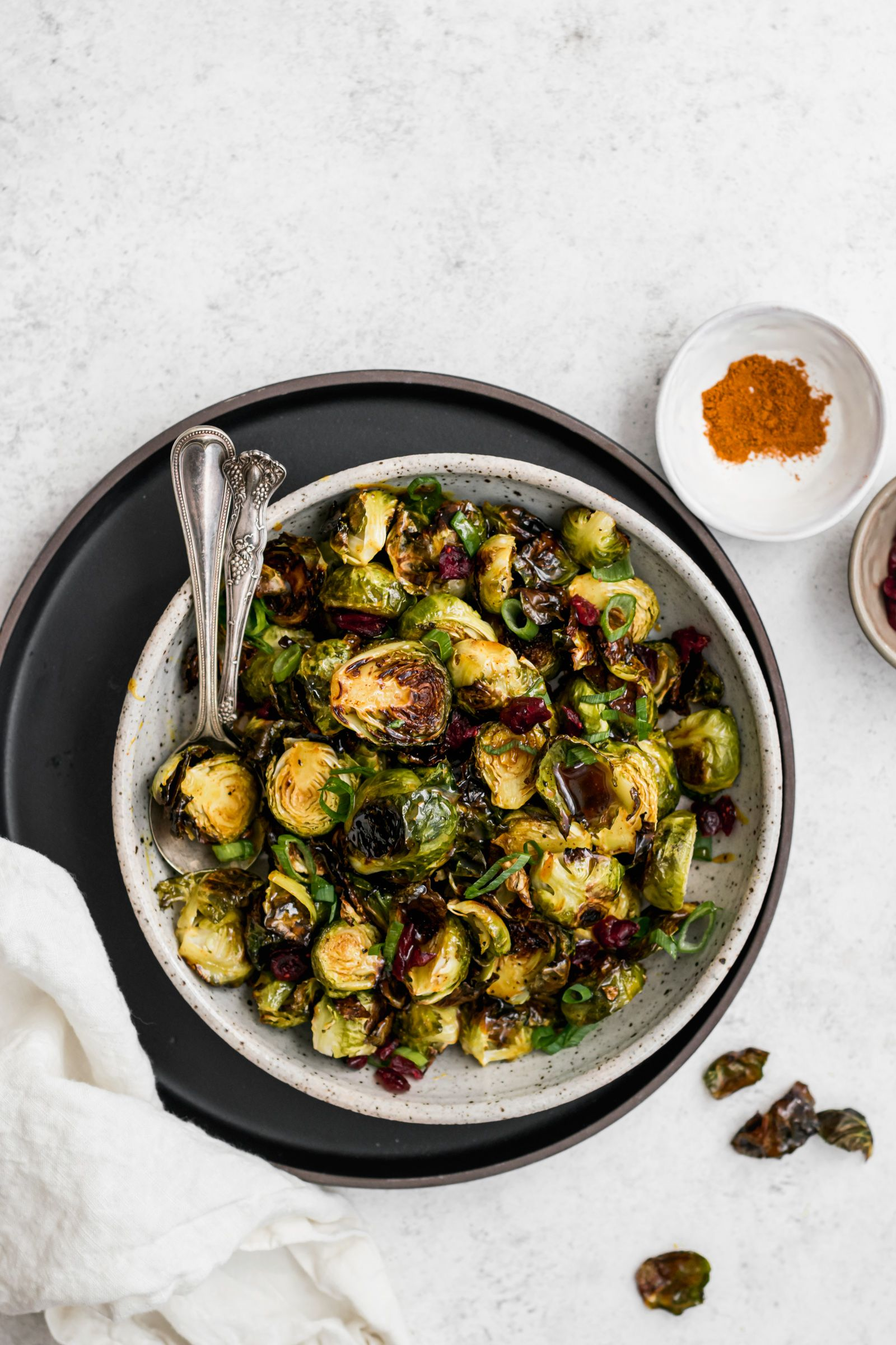Sweet Honey Curry Brussels Sprouts