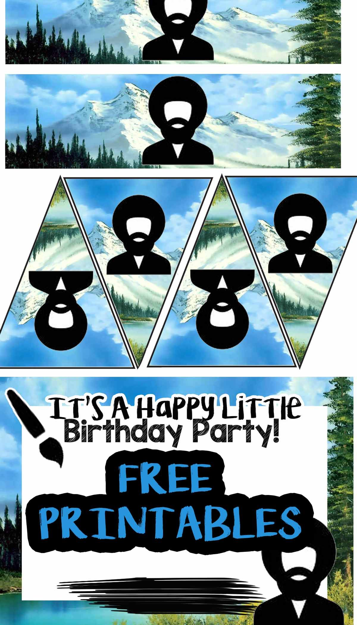 photograph about Ross Printable Coupon titled Absolutely free Bob Ross Portray Birthday Get together Printable Documents