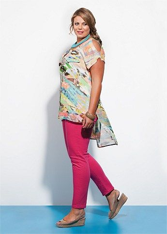 Virtu Stained Glass Tunic Blouse! Loove this look! I need this top!!!